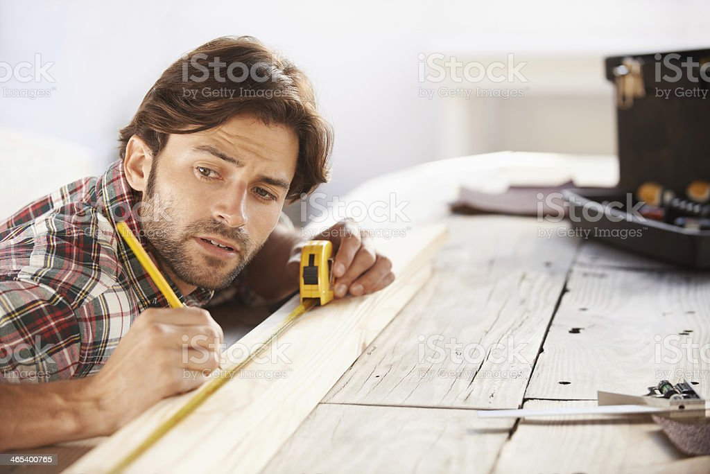 Getting the measurements right stock photo