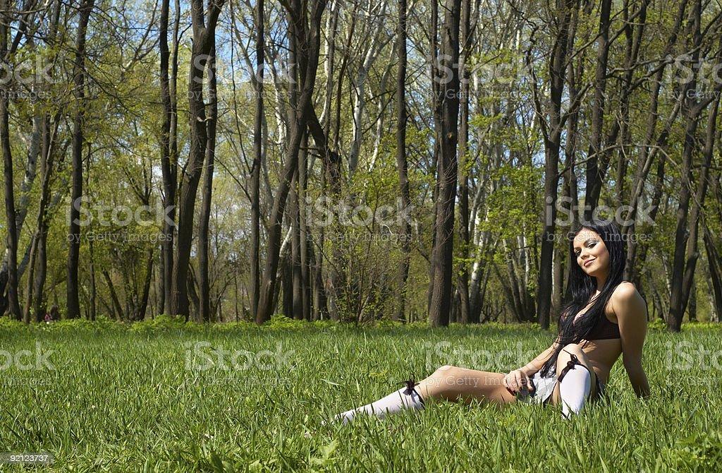 getting the spring sunbath royalty-free stock photo