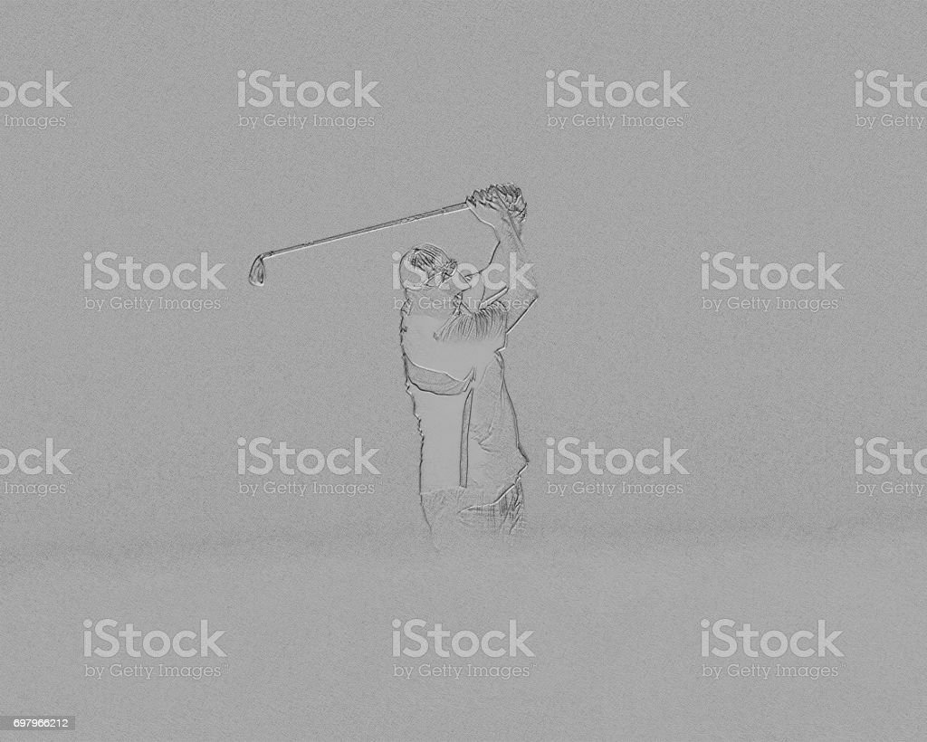Getting the Swing of it stock photo