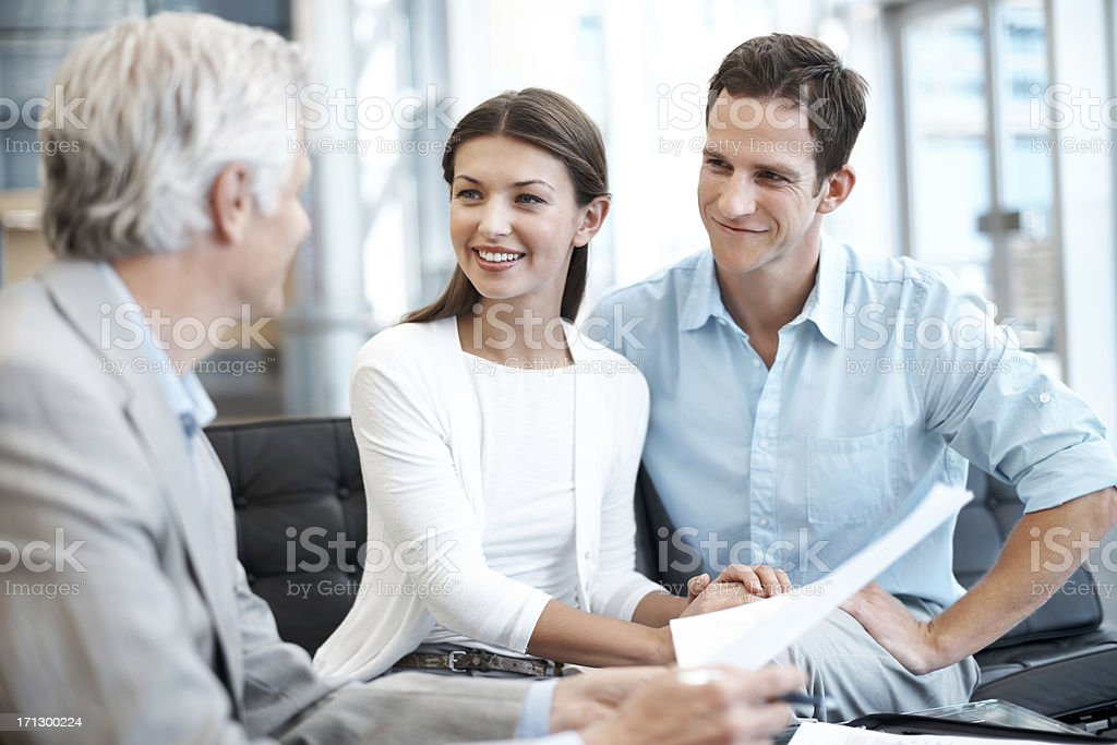 Getting their home finances in order royalty-free stock photo
