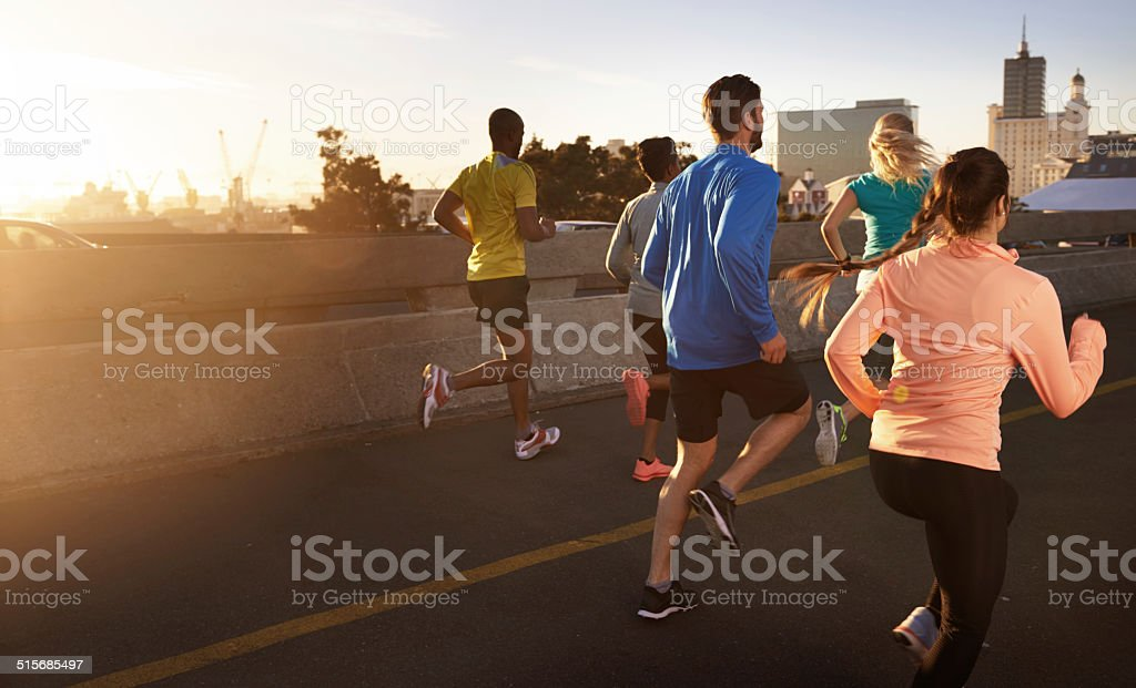 Getting there the healthy way stock photo