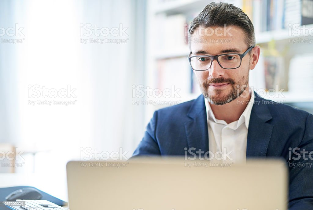 Getting things done through technology stock photo