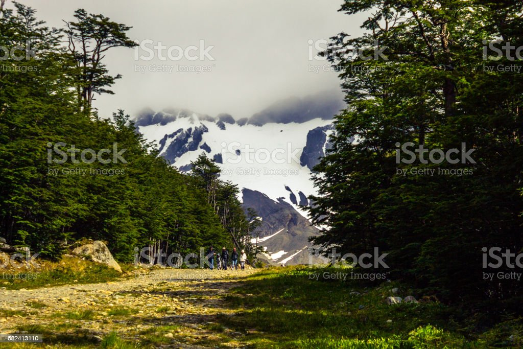 Getting to know Cerro Martial in summer, Ushuaia, Tierra del Fuego Province, Argentine Patagonia, South America. stock photo