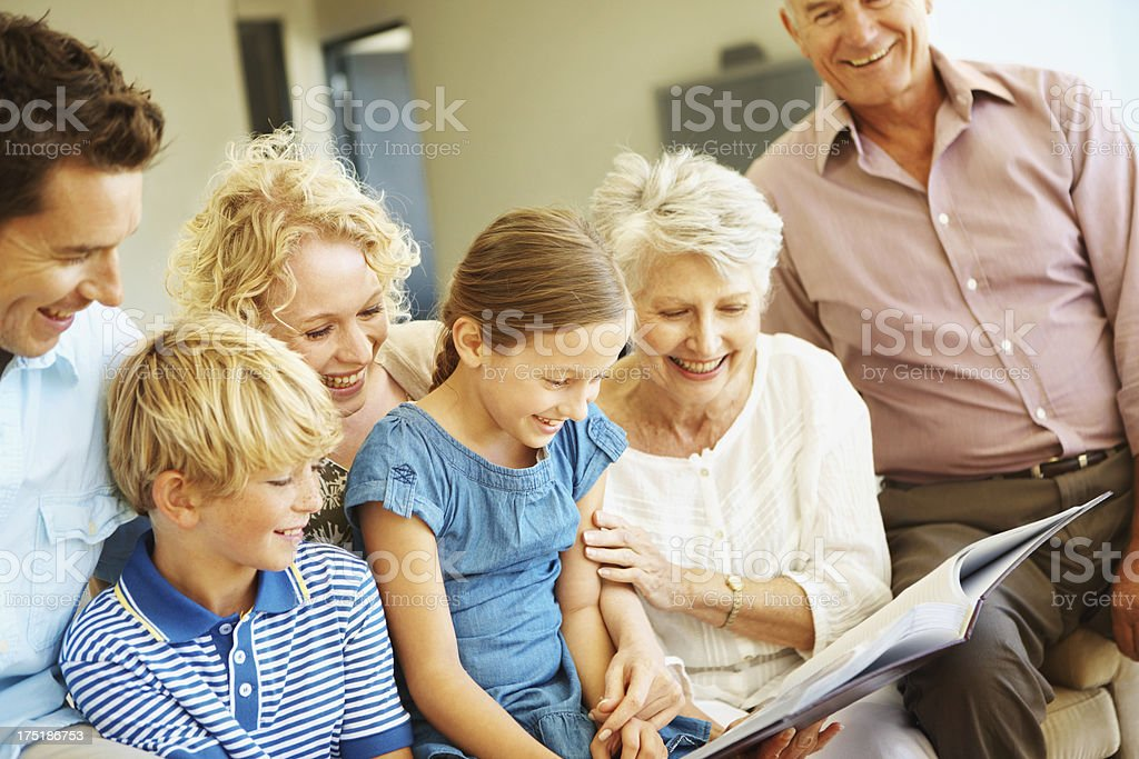 Getting to know their family heritage stock photo