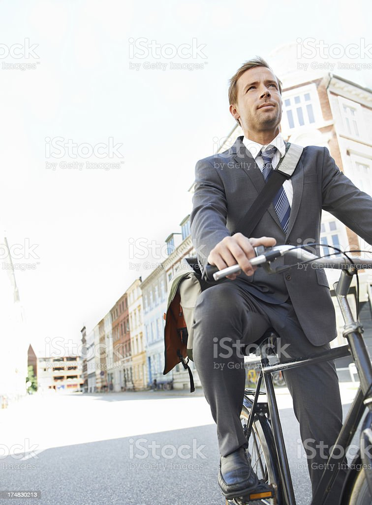 Getting to work the green way royalty-free stock photo
