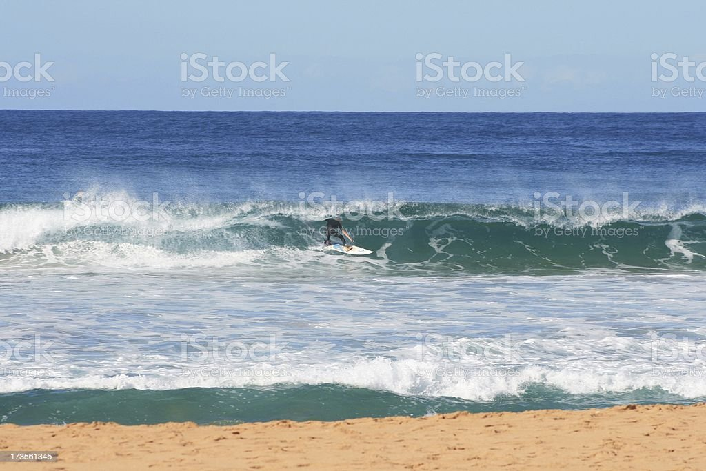 Getting Tubed stock photo