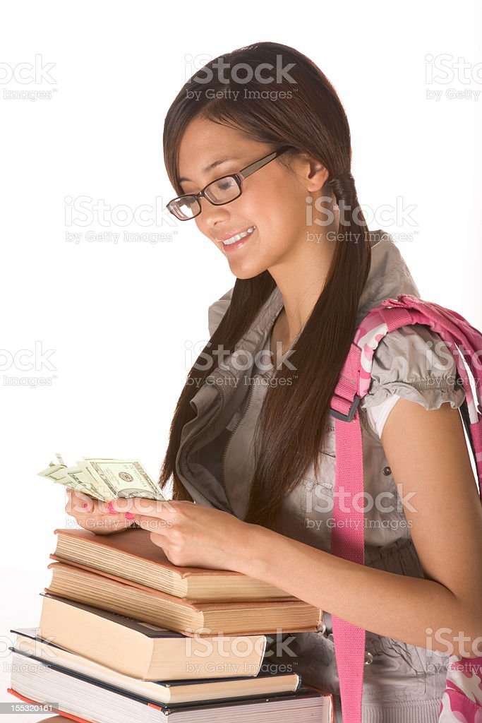 Getting tuition money to cover cost of education royalty-free stock photo
