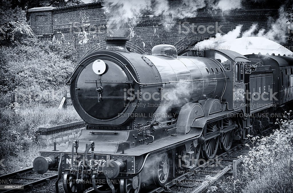 Getting up steam stock photo
