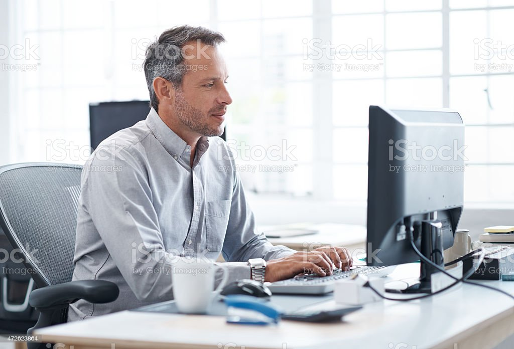 Getting up to speed with online business stock photo