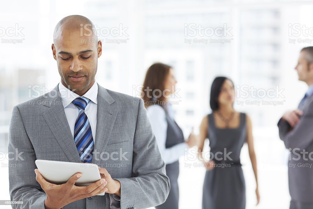 Getting up to speed with the latest market trends stock photo