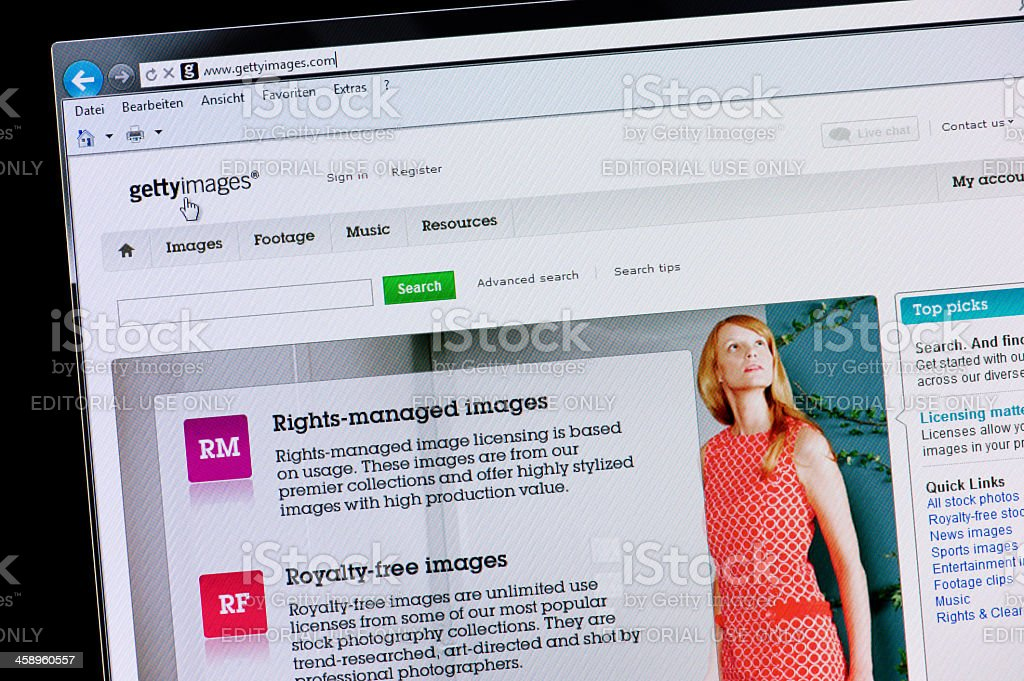 Getty Images - Macro shot of real monitor screen royalty-free stock photo