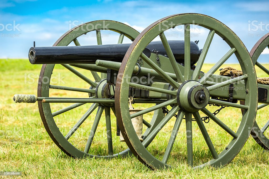 Gettysburg battlefield cannon stock photo