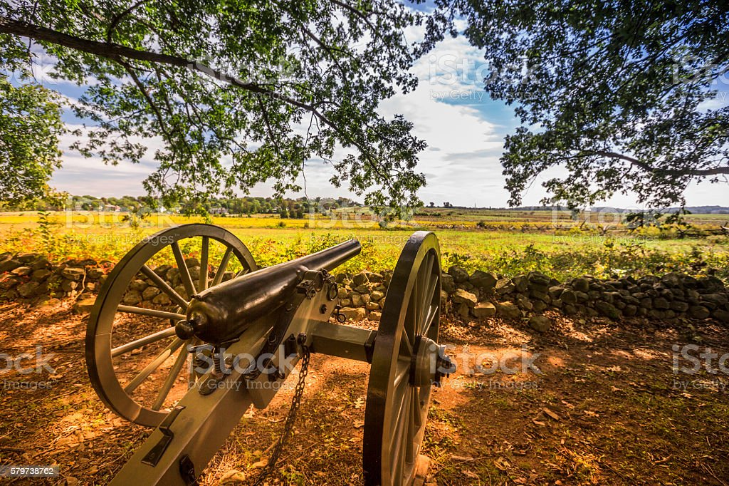 Gettysburg battlefield stock photo