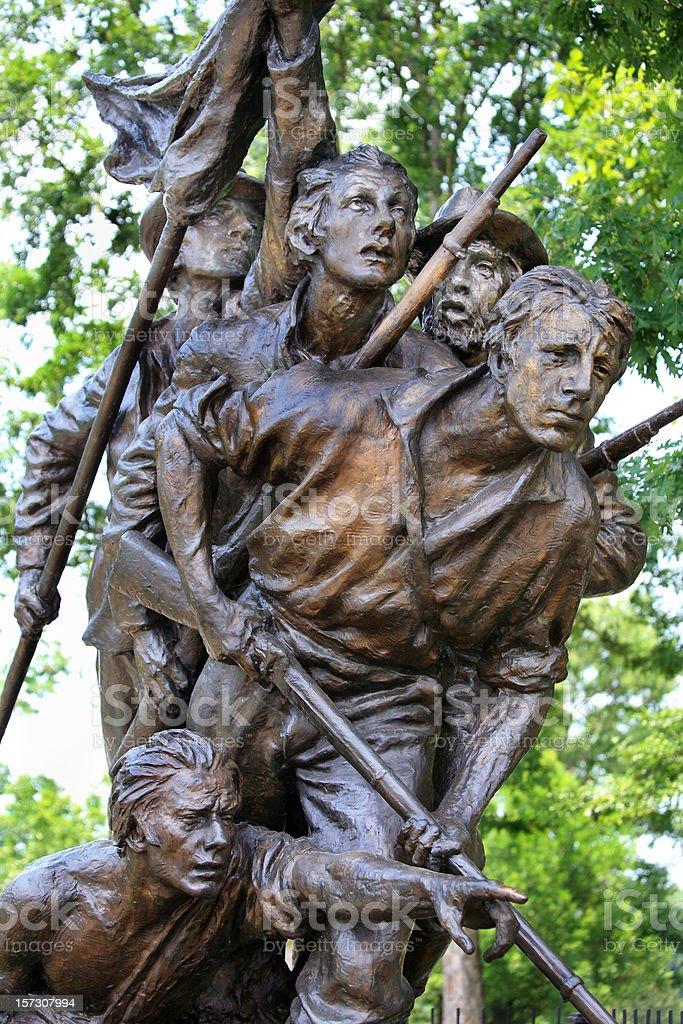 Gettysburg Battlefield  Statue royalty-free stock photo