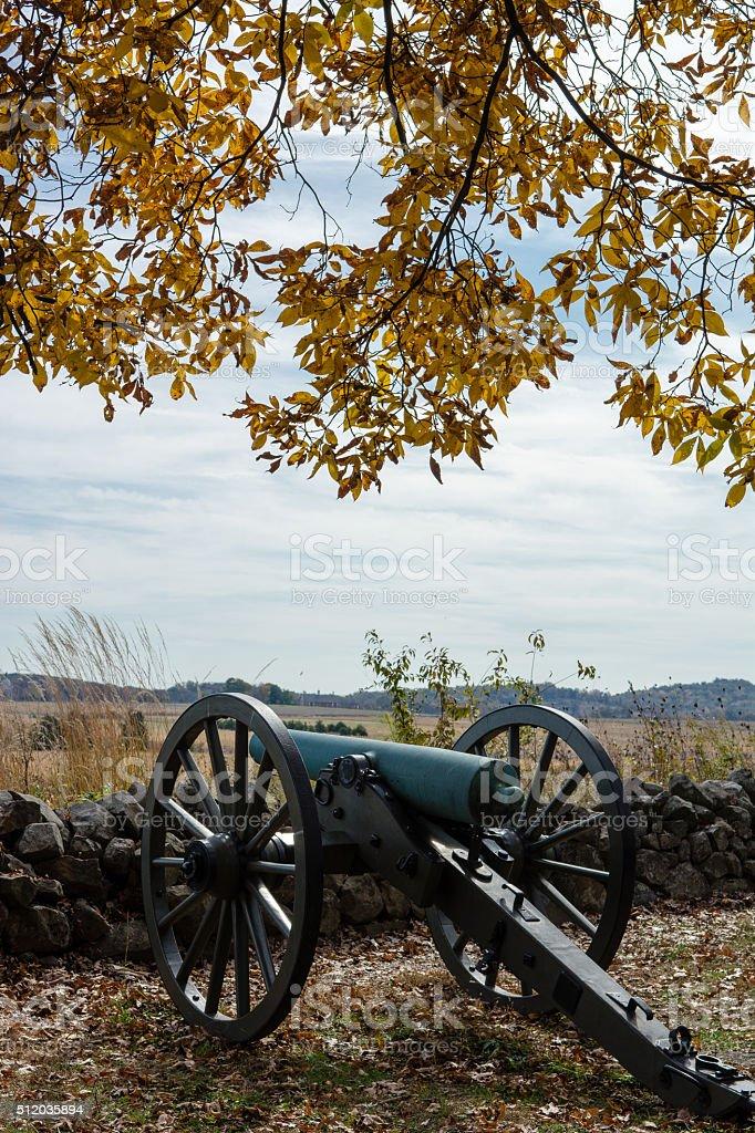 Gettysburg Cannon in Autumn stock photo