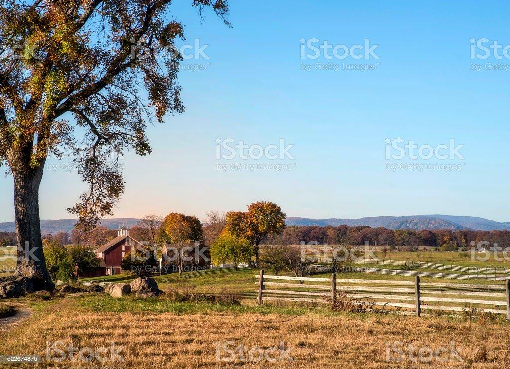 Gettysburg Farm stock photo