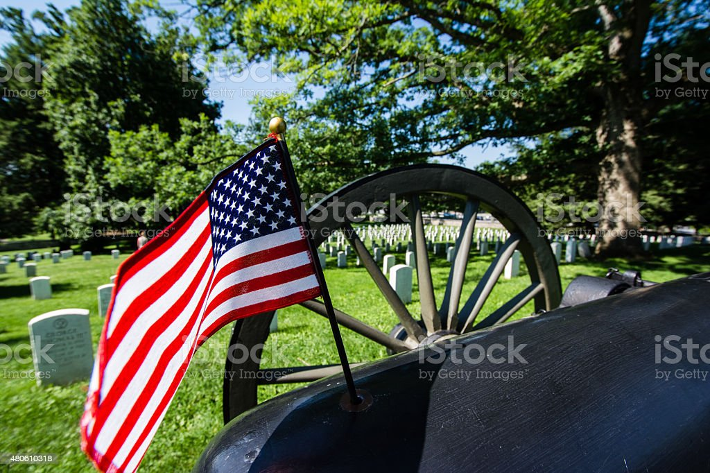 Gettysburg National Cemetery stock photo