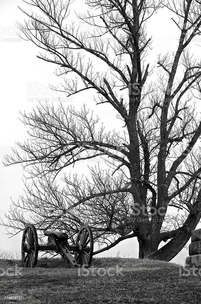 Gettysburg, Pennsylvania Battlefield cannon, American Civil War Relic, USA royalty-free stock photo