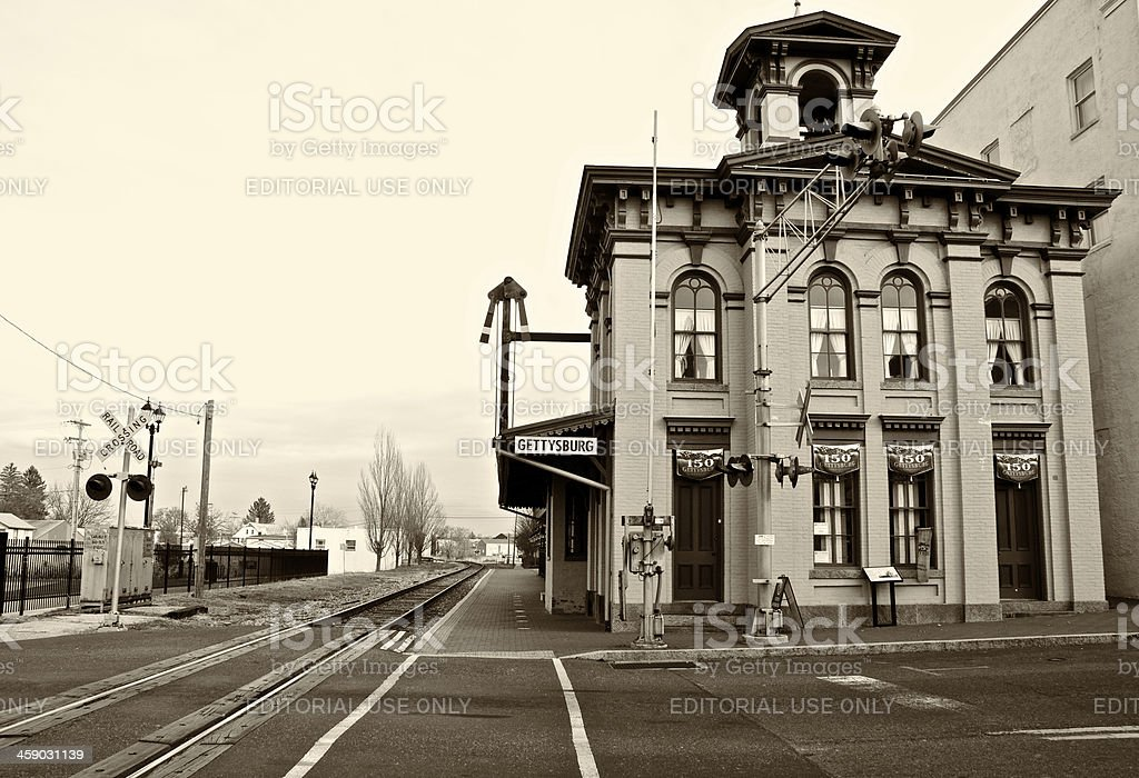 Gettysburg Railroad Station, Historic Building,  Pennsylvania, USA stock photo