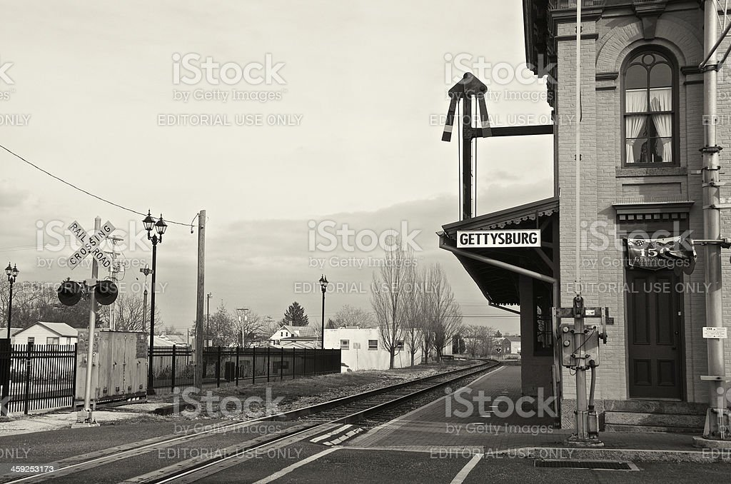 Gettysburg Railroad Station, Historic Depot Building, Pennsylvania, USA stock photo