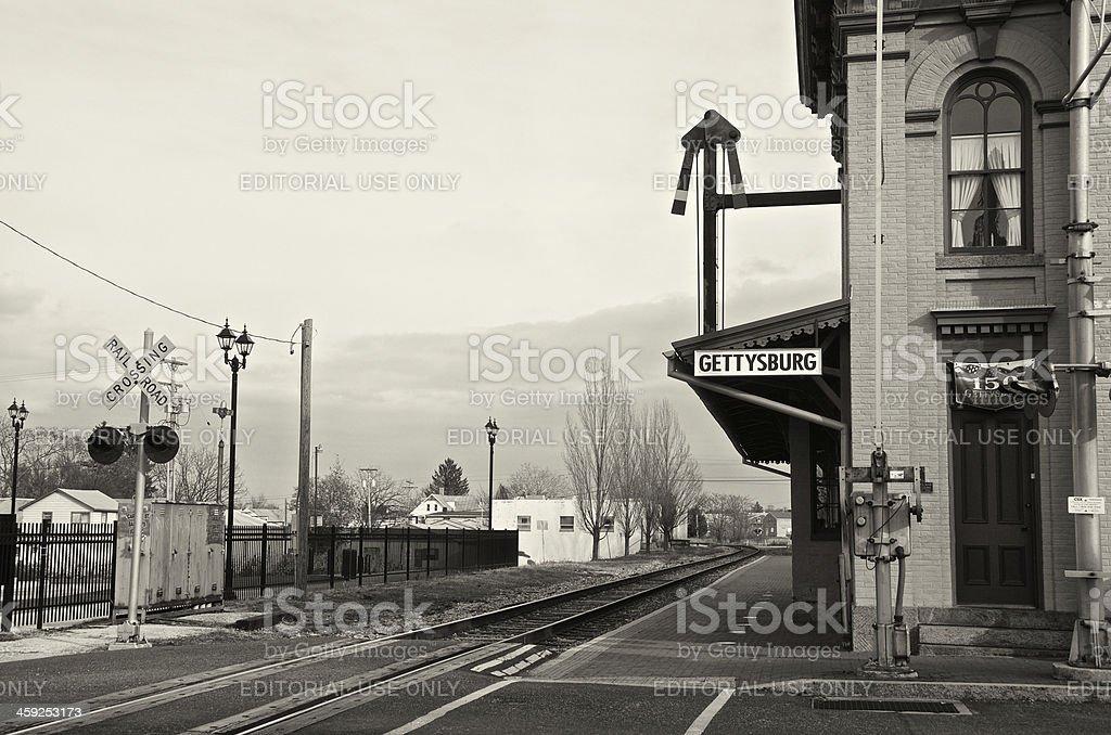 Gettysburg Railroad Station, Historic Depot Building, Pennsylvania, USA stock photo