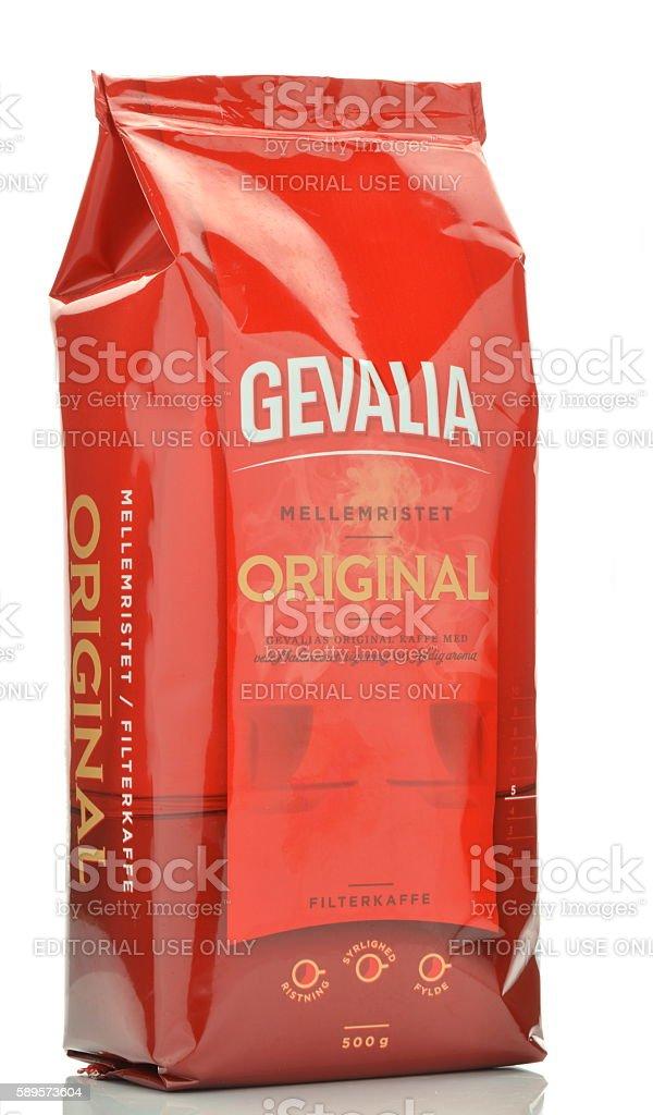 Gevalia Original coffee isolated on white background. stock photo