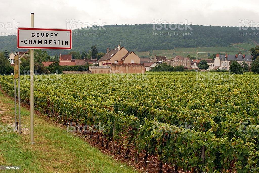 Gevrey-Chambertin village stock photo