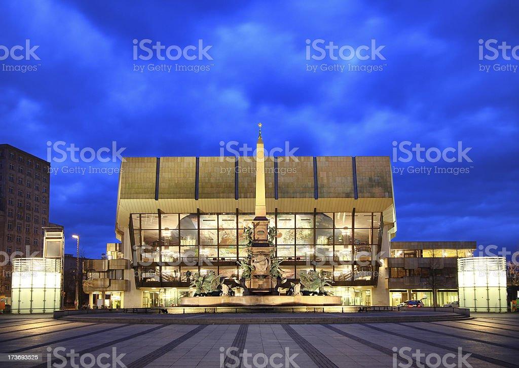 Gewandhaus, Leipzig royalty-free stock photo