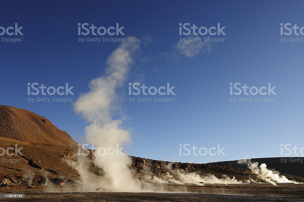 Geyser Field at Dawn royalty-free stock photo