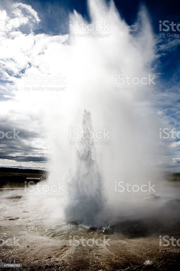Geyser Iceland royalty-free stock photo
