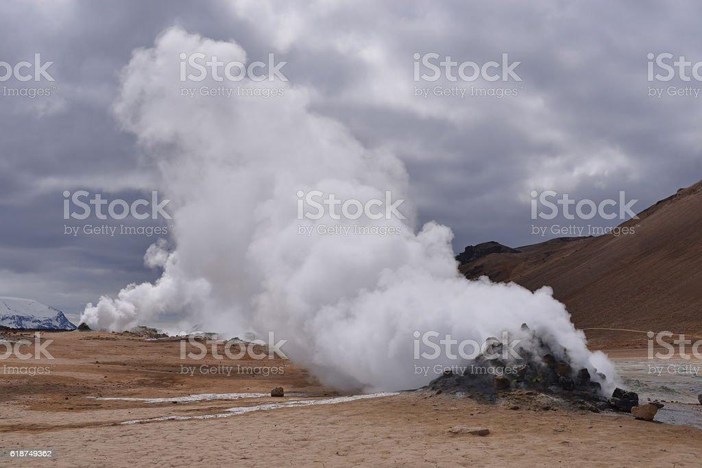 Geyser, Iceland stock photo