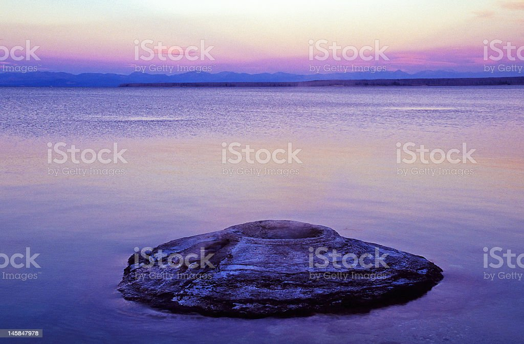 Geyser royalty-free stock photo