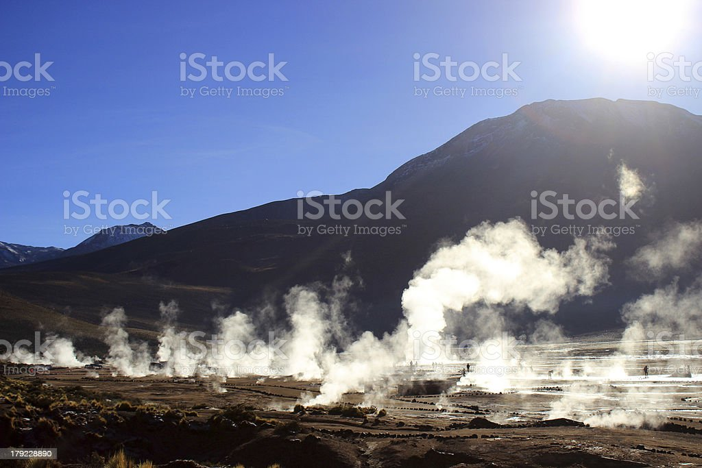 geysers and fumaroles royalty-free stock photo