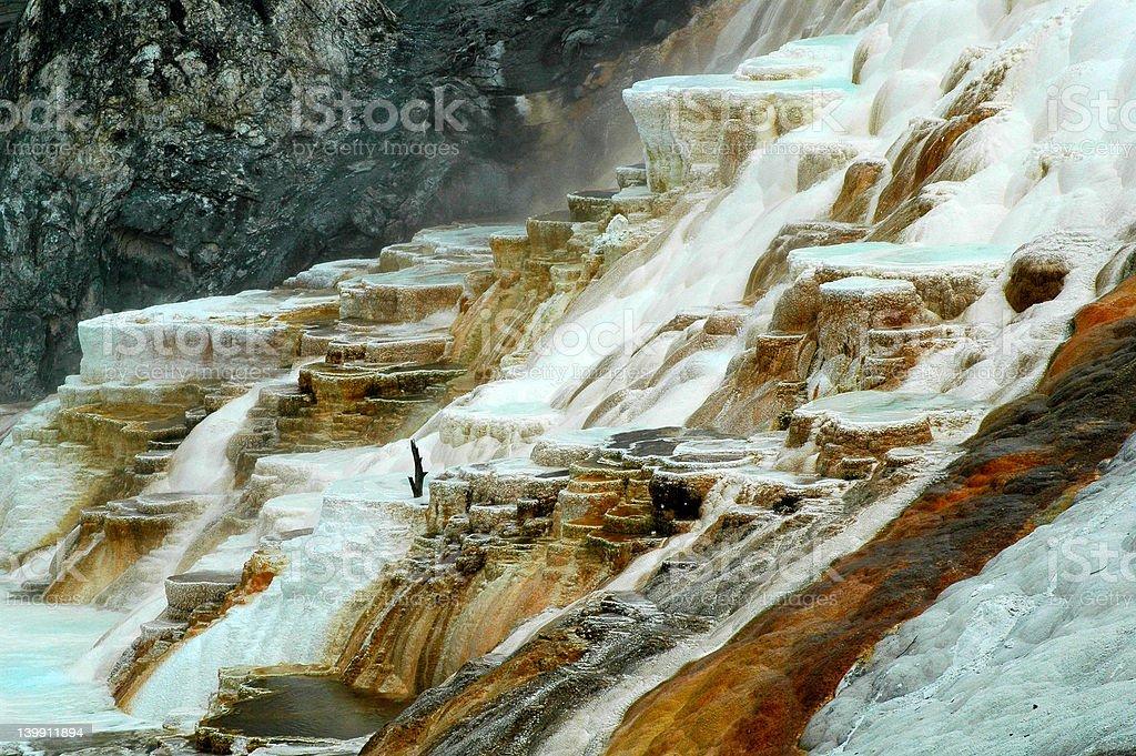 Geysers in Yellowstone stock photo