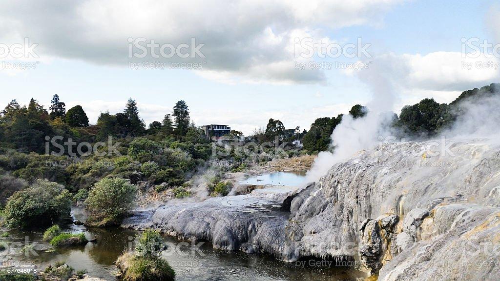 geysers Waiotapu, rotorua, New Zealand stock photo