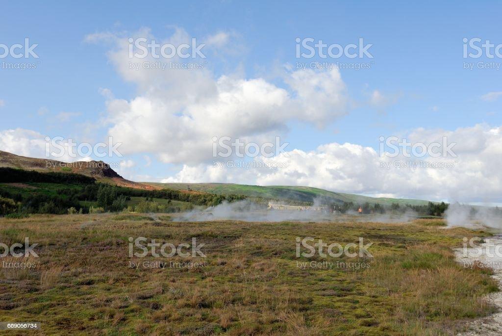 Geysir geyser in southwestern Iceland stock photo