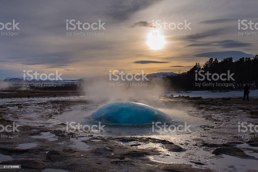 Geysir, Iceland stock photo