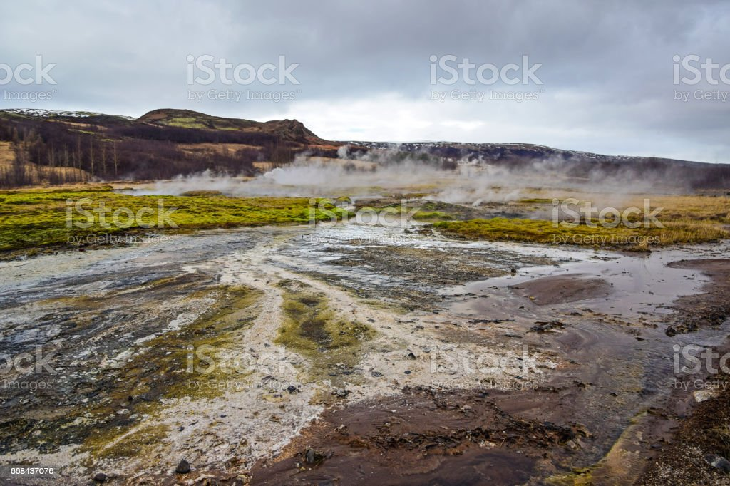 Geysir - Iceland thermal area stock photo