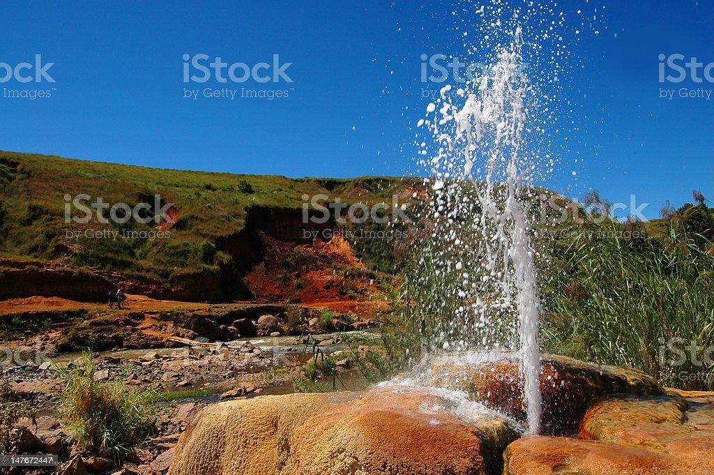 Geysir in Madagascar royalty-free stock photo