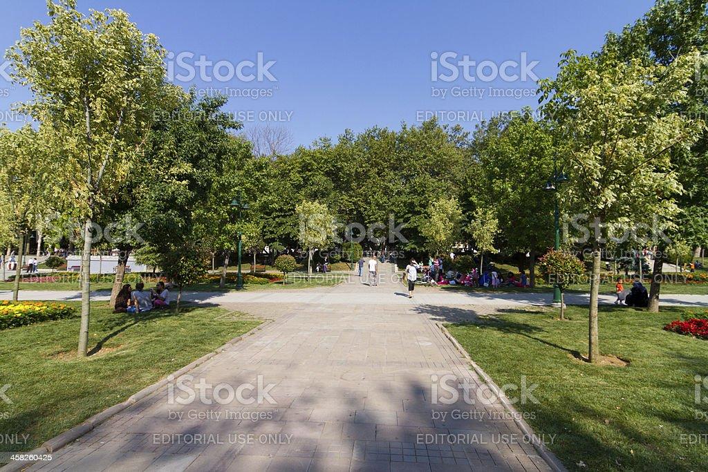 Gezi Park, Istanbul stock photo
