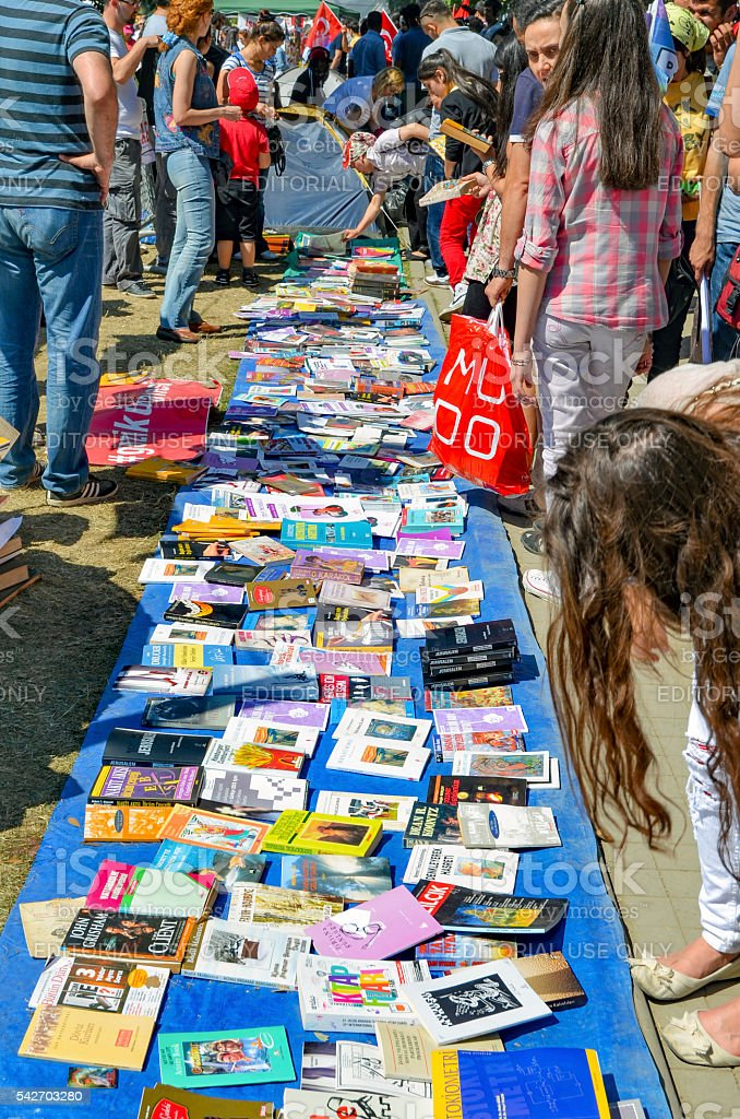 Gezi Park Library book comes to grants, get free. stock photo