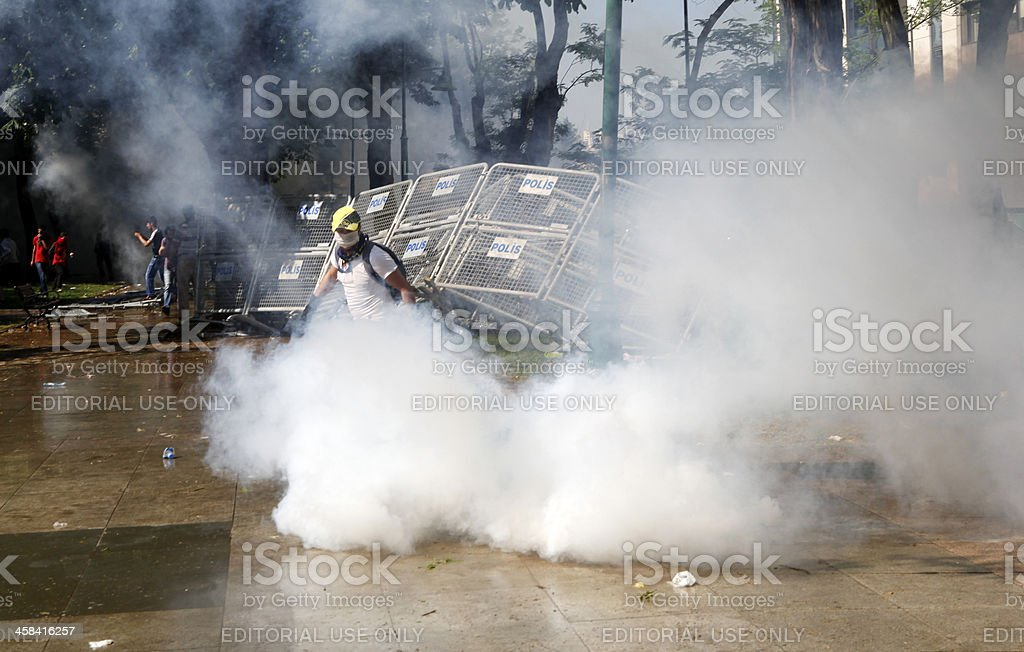 Gezi Park Protests in Istanbul,Turkey stock photo