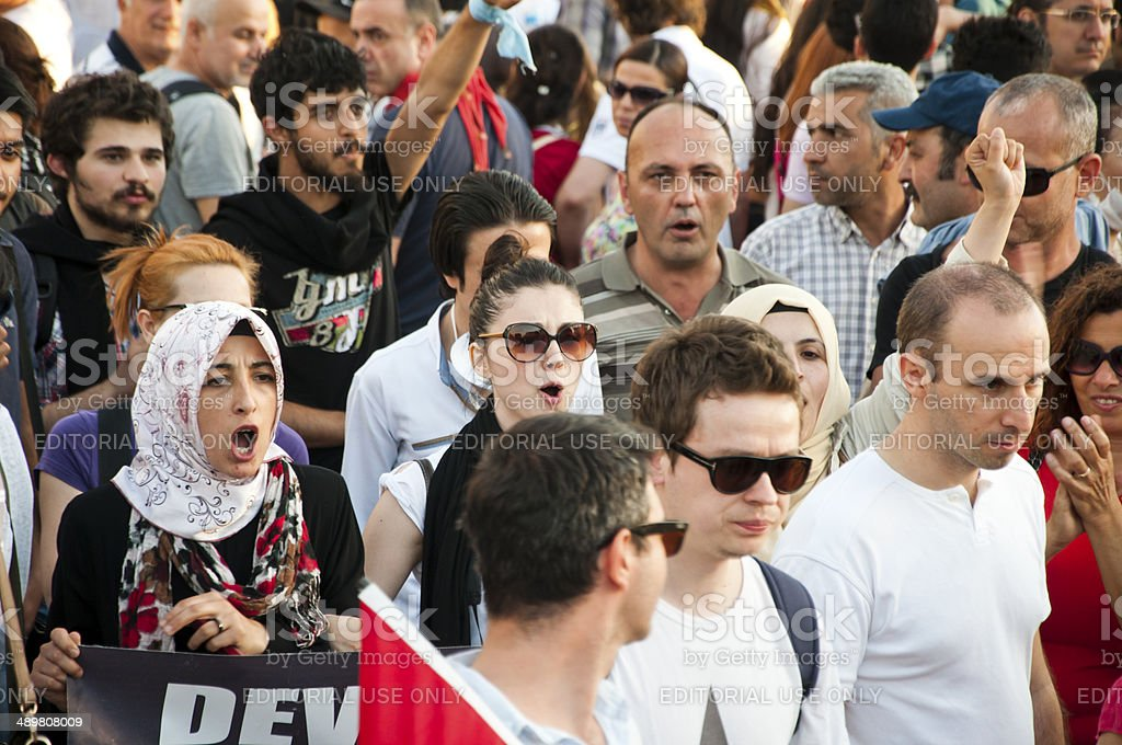 Gezi Park Protests, Istanbul stock photo