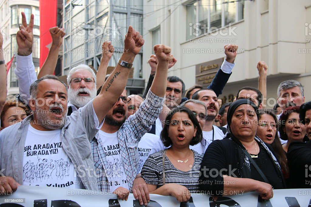 Gezi Parkı was commemorated in Istanbul. stock photo