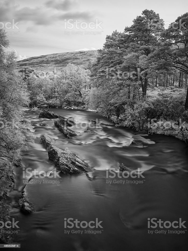 A'Ghairbhe River In Glen Torridon stock photo