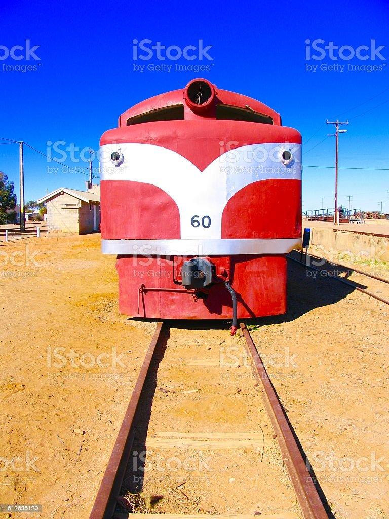 Ghan Locomotive stock photo