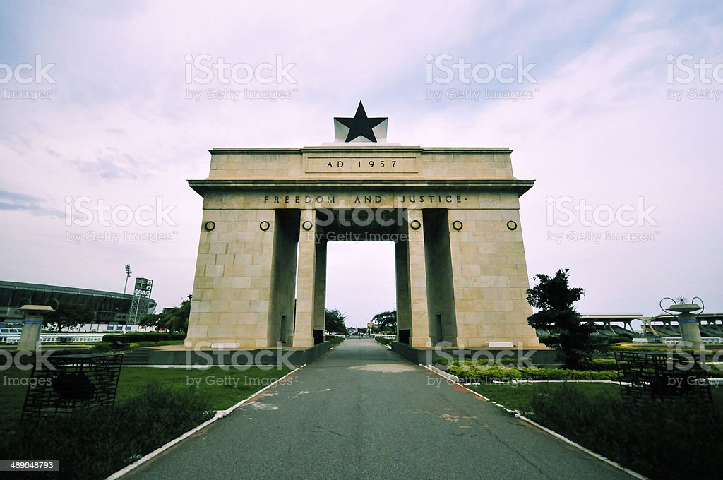 Ghana, Accra, Independence Arch stock photo