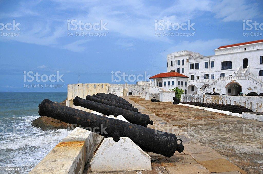 Ghana, Africa: Cape Coast castle, gun battery stock photo