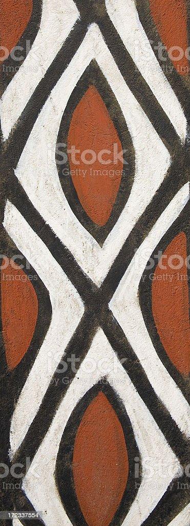 Ghana and Burkina Faso: Traditional Gourounsi Wall Pattern royalty-free stock photo