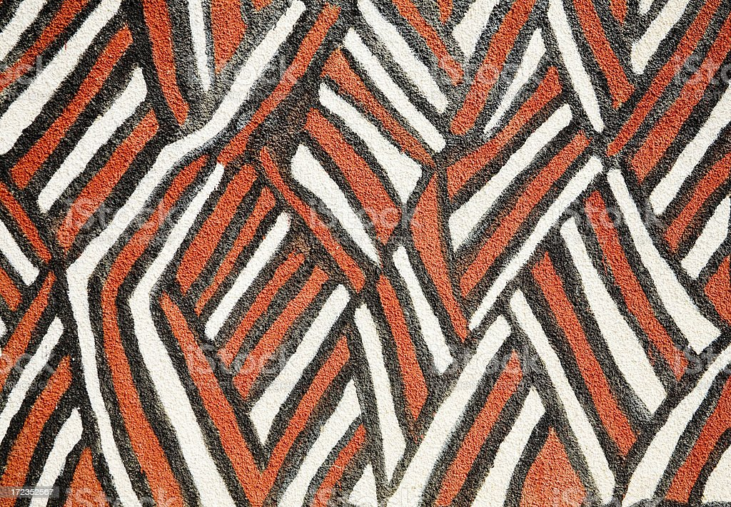 Ghana and Burkina Faso: Traditional Gourounsi Wall Pattern stock photo